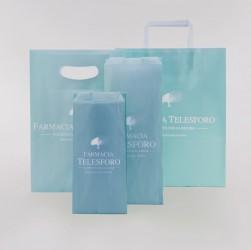 Farmacia Telesforo, coordinato boccaperta, shopper